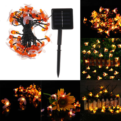 olar Powered Waterproof Honey Bee Shape 50 LED String Light