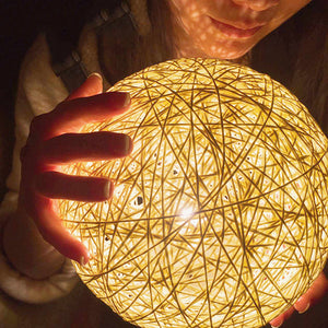 Rattan Ball Night Light