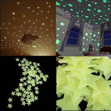Load image into Gallery viewer, 100pcs 3D Stars Glow In Dark Luminous Tape