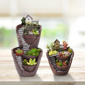 Sky Garden Potted Big House Micro Landscape