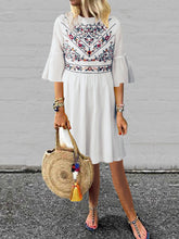 Load image into Gallery viewer, Women Bohemian Floral Dress