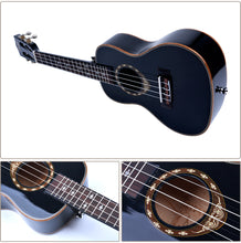 "Load image into Gallery viewer, 24"" Slotted Headstock Spruce Wood Concert Ukulele LA03 - Zalaxy"