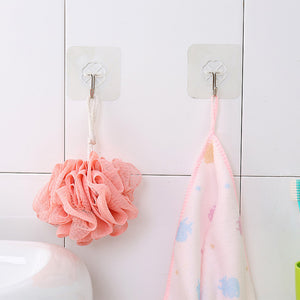 6PCs Strong Transparent Sticky Wall Hooks Hanger