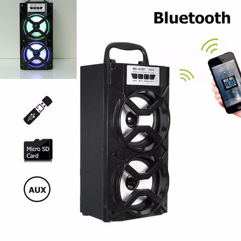 Portable Outdoor Bluetooth Wireless Super Bass Speaker