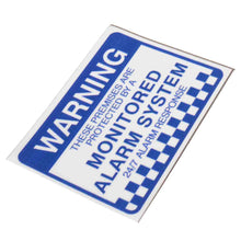 Load image into Gallery viewer, Warning Security Stickers Waterproof Security Sign