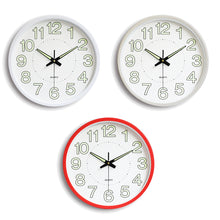 Load image into Gallery viewer, Glow In The Dark Silent Quartz Wall Clock
