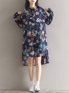 Women's Floral Beach Loose Dress