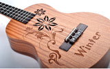 "26"" AA Sapele Wood Tenor Ukulele UK45 - Winter - Zalaxy"