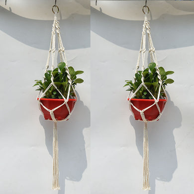 Rope Hand Knitting Cotton and Hemp Rope Plant Hanger