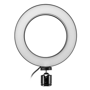 16cm LED Video Ring Light 5500K Dimmable with 160cm Adjustable Light Stand for Youtube Tiktok Live Streaming
