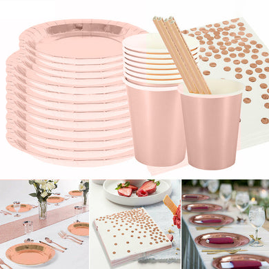 125 pcs. Party Disposable Tableware Set