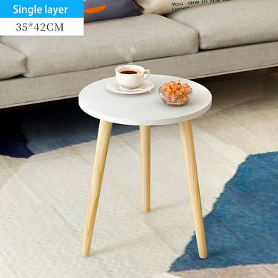 Wooden Round Table End Table