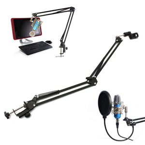 Microphone Suspension Boom Scissor Arm Stand Holder
