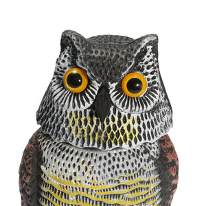 Artificial Resin Owl with Rotating Head
