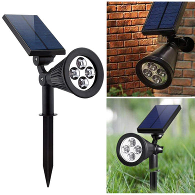 2-in-1 Garden Solar Light 4 LED Solar