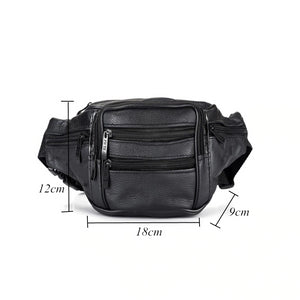 Genuine Leather Waist Packs Bag - Zalaxy