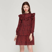 Load image into Gallery viewer, Women Ruffles Long Sleeve Dress