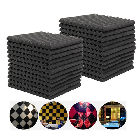 6Pcs 12Pcs 24Pcs Acoustic Soundproof Sound Stop Absorption for KTV Audio Room