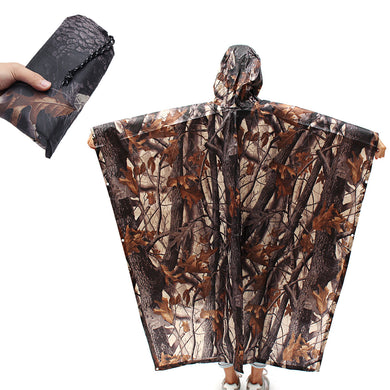 3 In 1 Hiking Pocket Poncho Portable Rain Coat