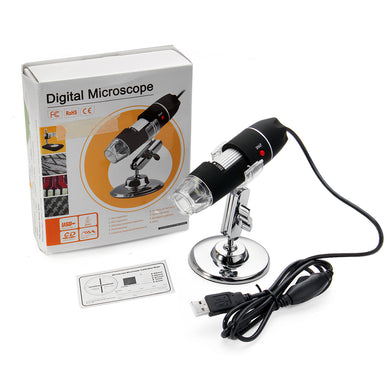 1600X Zoom 8 LED USB Digital Microscope with Bracket