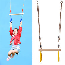 Load image into Gallery viewer, Children Wooden Trapeze Gymnastic Rings