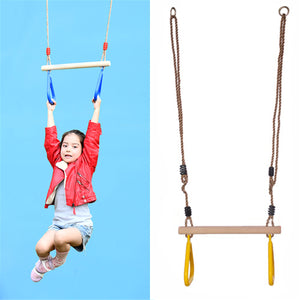 Children Wooden Trapeze Gymnastic Rings