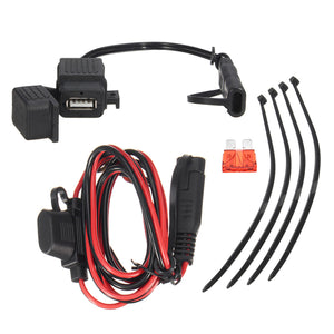 12V-24V 2.1A SAE to USB Adapter with Extension Harness