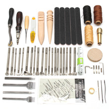 Load image into Gallery viewer, 59Pcs Leather Craft Hand Tools Kit