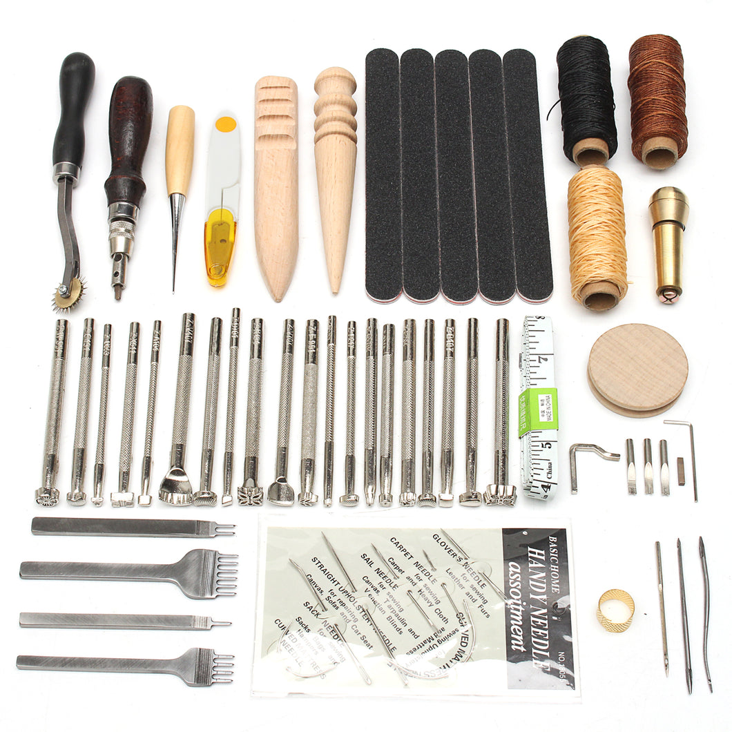 59Pcs Leather Craft Hand Tools Kit