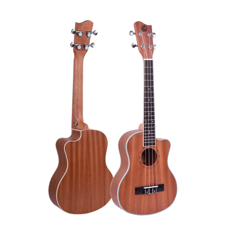 "26"" Cutaway Sapele Wood Tenor Ukulele GUT-300C - Zalaxy"