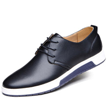 Load image into Gallery viewer, Men's Leather Round Toe Oxfords Sneaker
