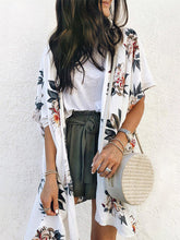 Load image into Gallery viewer, Women Floral Print Chiffon Kimono