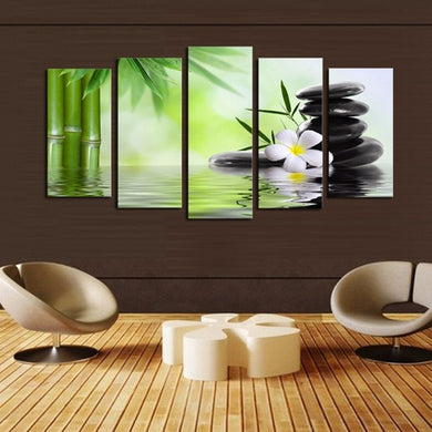 Green Huge Modern Oil Canvas Painting