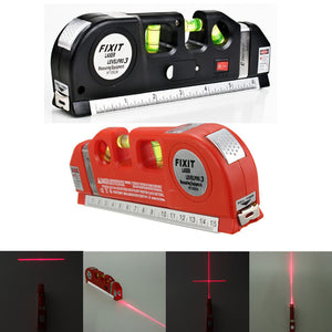 Multipurpose Laser Level Horizontal Vertical Measure Tape
