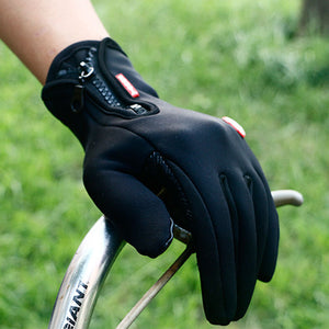 Zipper Thermal Warm Gloves