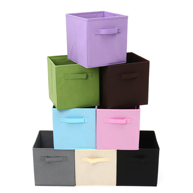 Foldable Fabric Storage Bin Collapsible Cube Box
