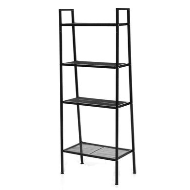 4 Tiers Wall Leaning Ladder Shelf Bookcase