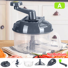Load image into Gallery viewer, 1500ml Manual Grinder Food Processor