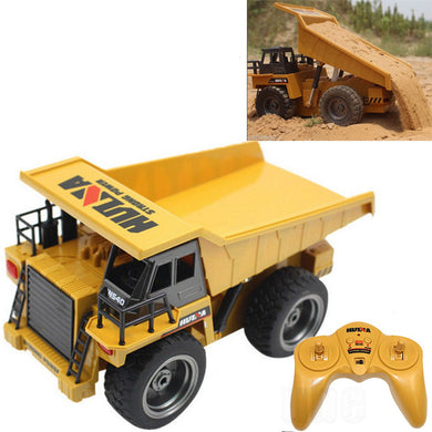 2.4G 6CH Electric Rc Car Dump Truck Alloy Engineering Vehicle