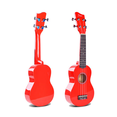 "21"" Basswood Soprano Ukulele High Gloss Finnish GK10 - Zalaxy"