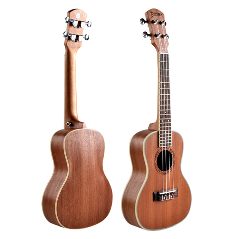 "24"" AA Sapele Wood Concert Ukulele UK30 - Zalaxy"