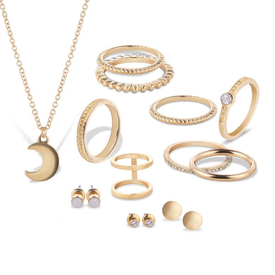 12 pcs. of Gold Silver Plated Jewelry Set