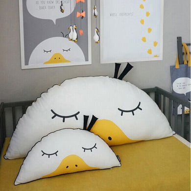 58cm Cute Semicircle Duck Throw Pillow