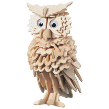 Load image into Gallery viewer, 3D Wooden Owl Jigsaw Puzzle