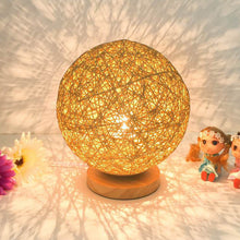 Load image into Gallery viewer, Rattan Ball Night Light