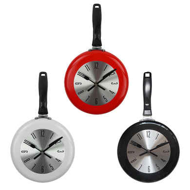 Kitchen Wall Clock Frying Pan