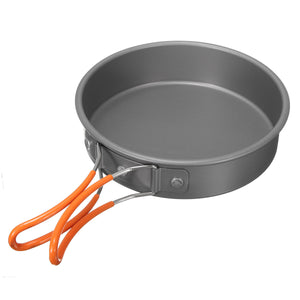 8Pcs Camping Aluminum Pot Bowl Portable
