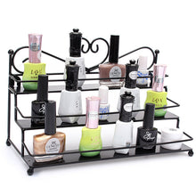 Load image into Gallery viewer, 3 Tiers Alloy Nail Polish Display Organizer