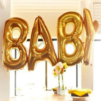 16/40 Inch Gold Silver Baby Foil Balloons
