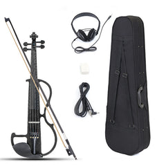 4/4 Size Basswood Electric Violin With Case
